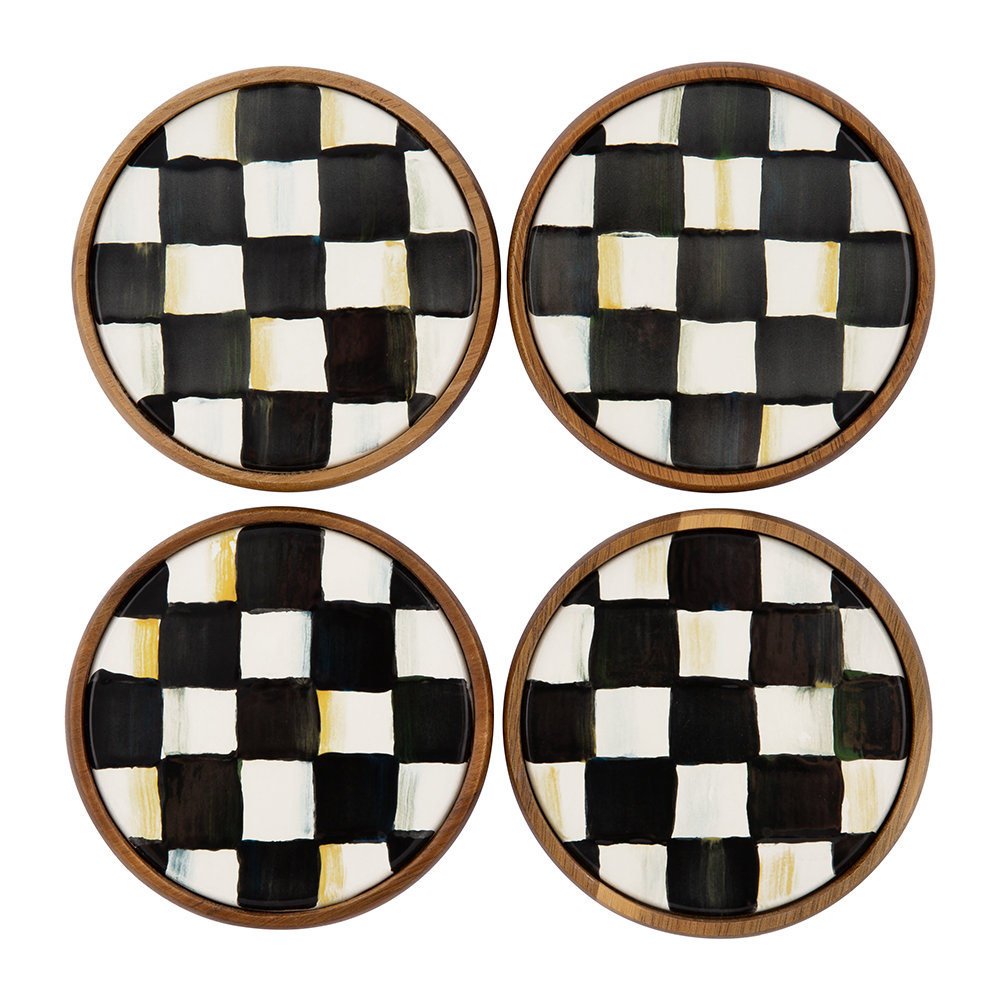 MacKenzie-Childs - Courtly Check Coasters - Set of Four