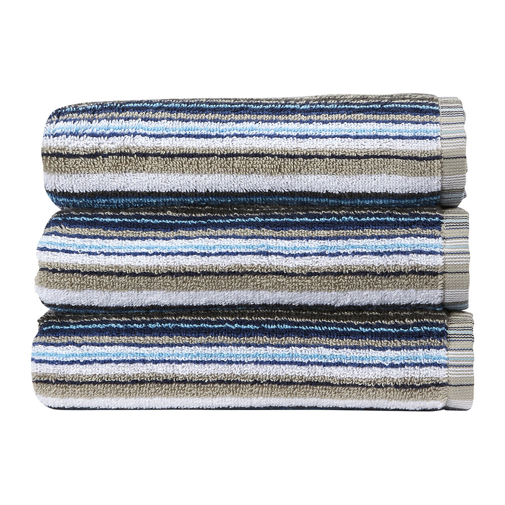Christy - Barcode Stripe Towel - Blue - Bath Sheet