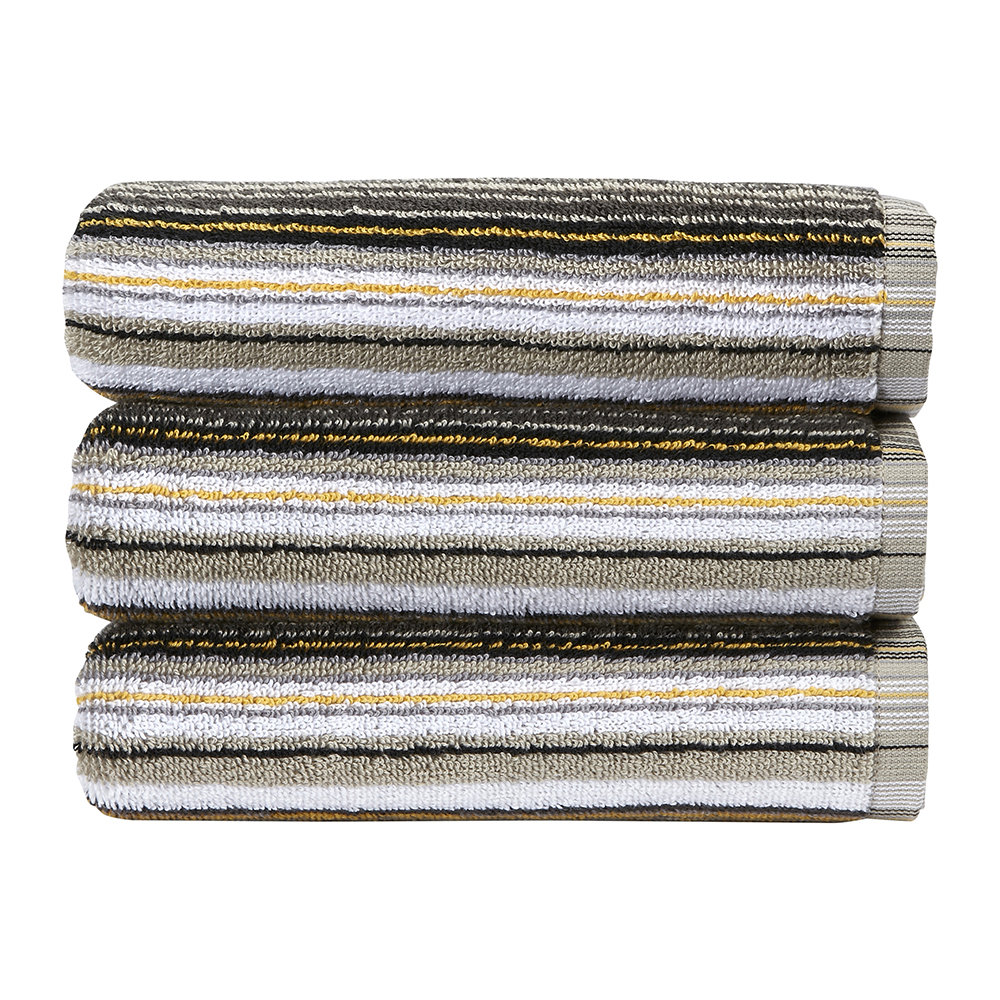 Christy - Barcode Stripe Towel - Ochre - Bath Sheet