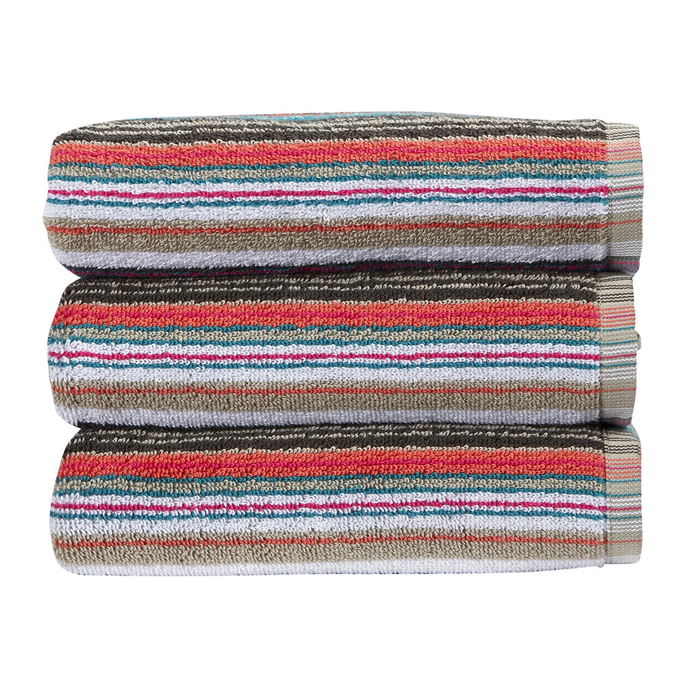 Christy - Barcode Stripe Towel - Multi - Bath Sheet