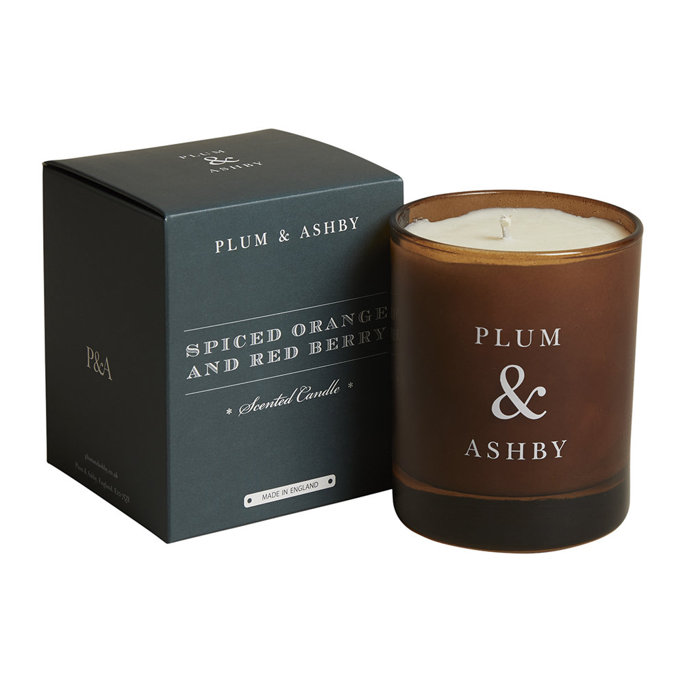 Plum  Ashby - Christmas Scented Candle - Spiced Orange  Red Berry
