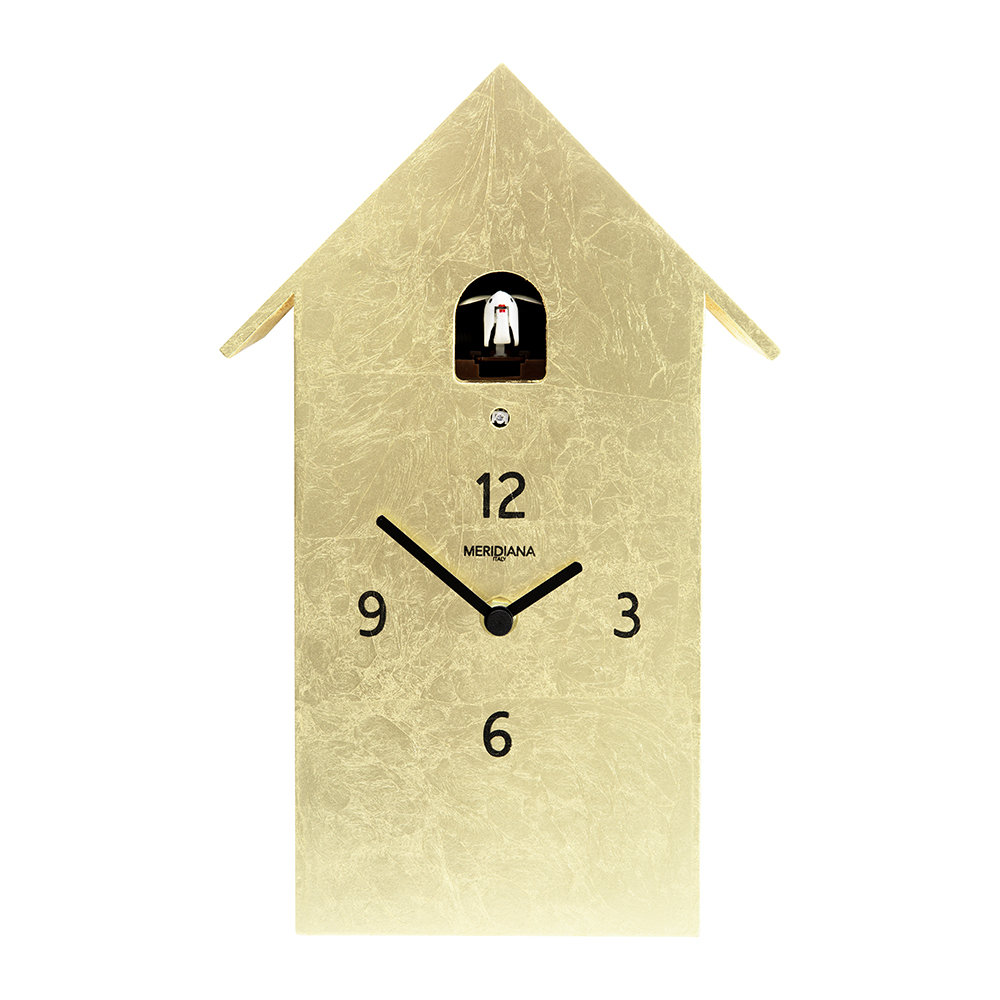 Diamantini  Domeniconi - Cucù Wall Clock - Gold Leaf