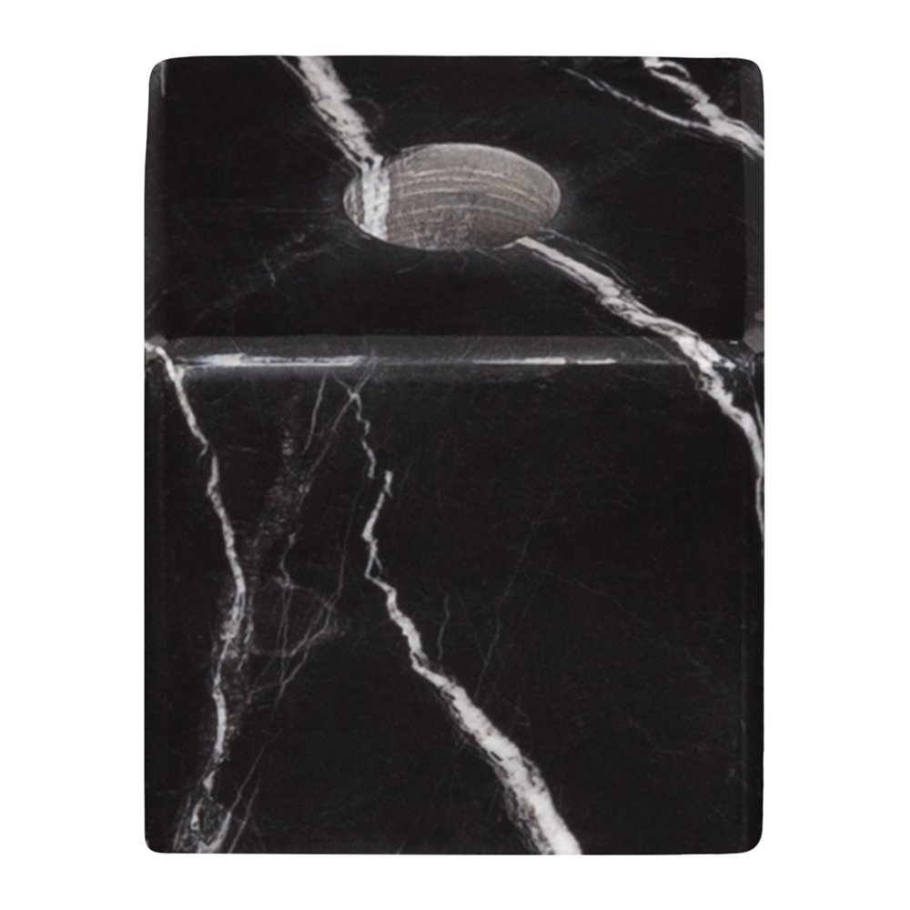 Stoned - Marble Candle Block - Black
