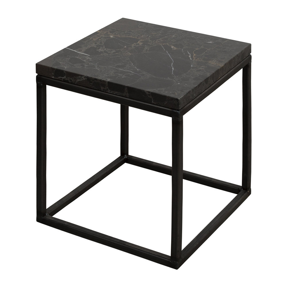 Stoned - Black Marble Side Table - Medium