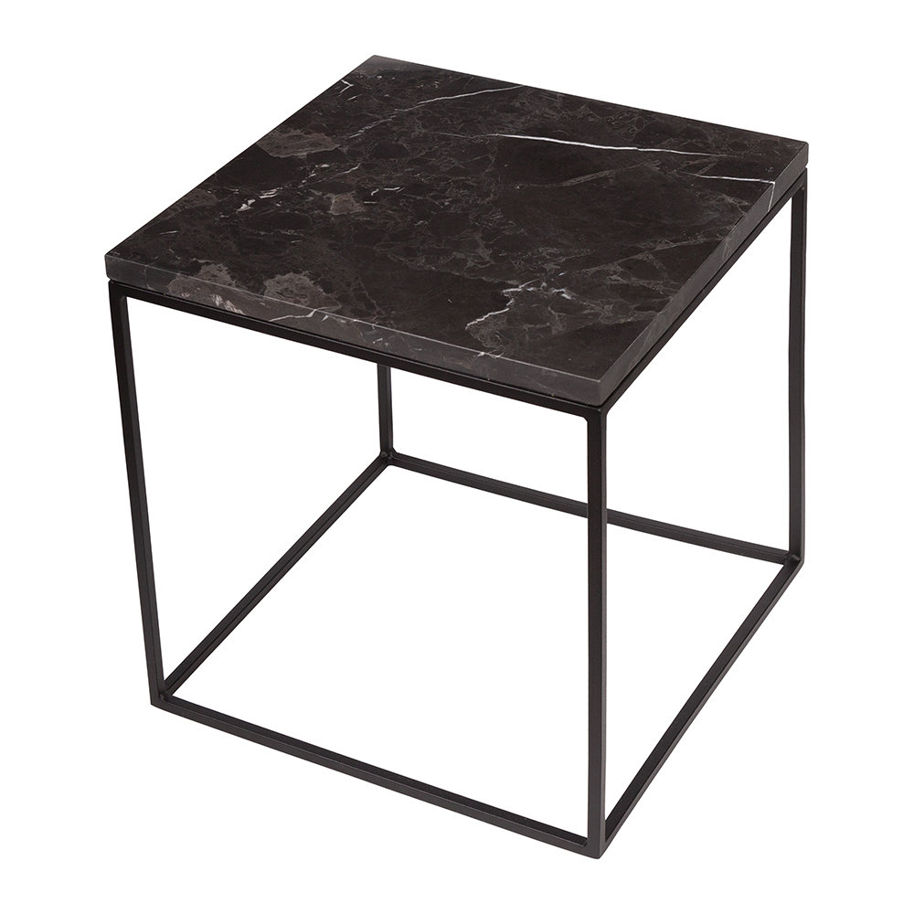 Stoned - Black Marble Side Table - Large