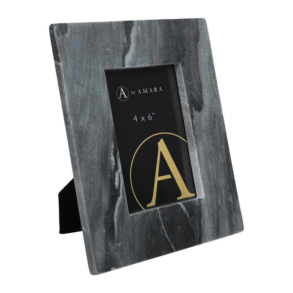 "Image of A by AMARAarble Photo Frame - 4x6"" - Black"