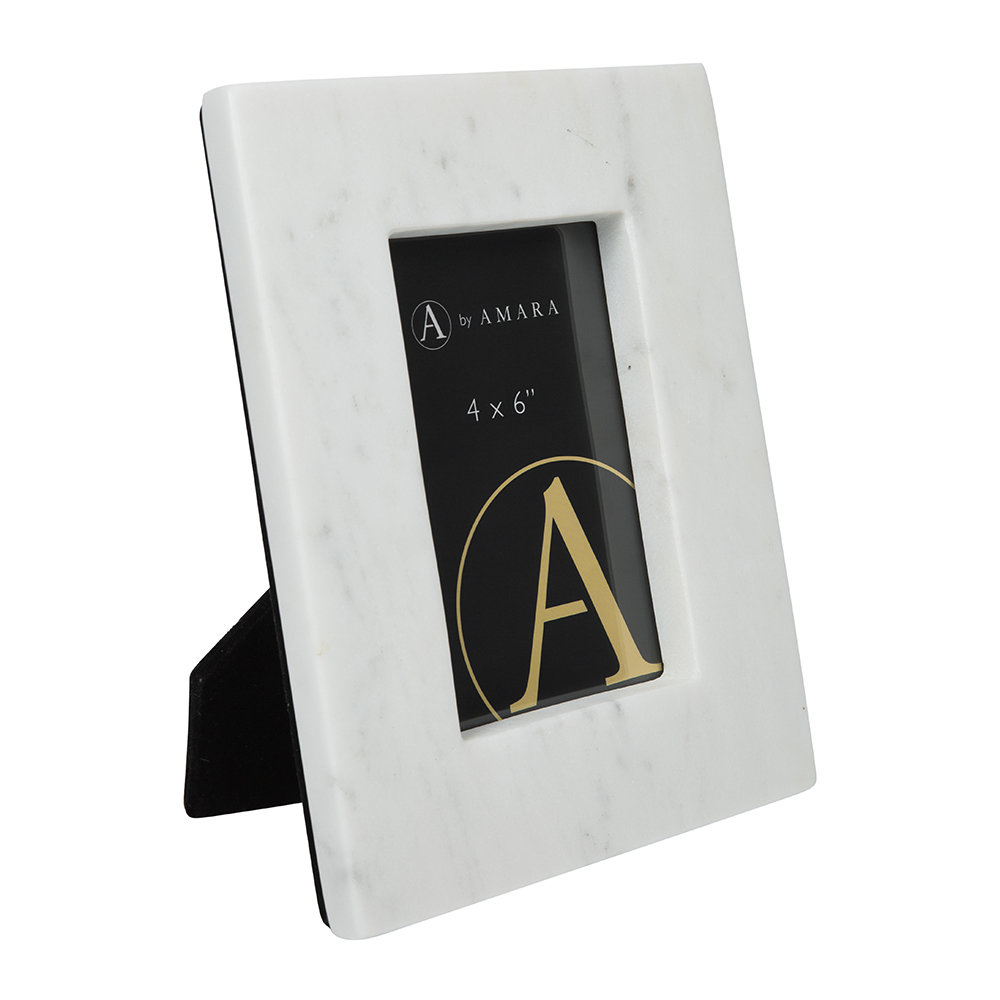 "Image of A by AMARAarble Photo Frame - 4x6"" - White"