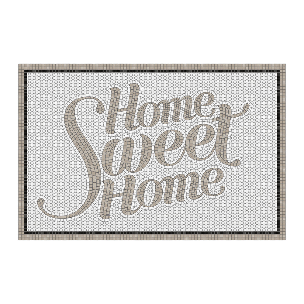 BEAUMONT - 5th Avenue Home Sweet Home Vinyl Door Mat - Grey