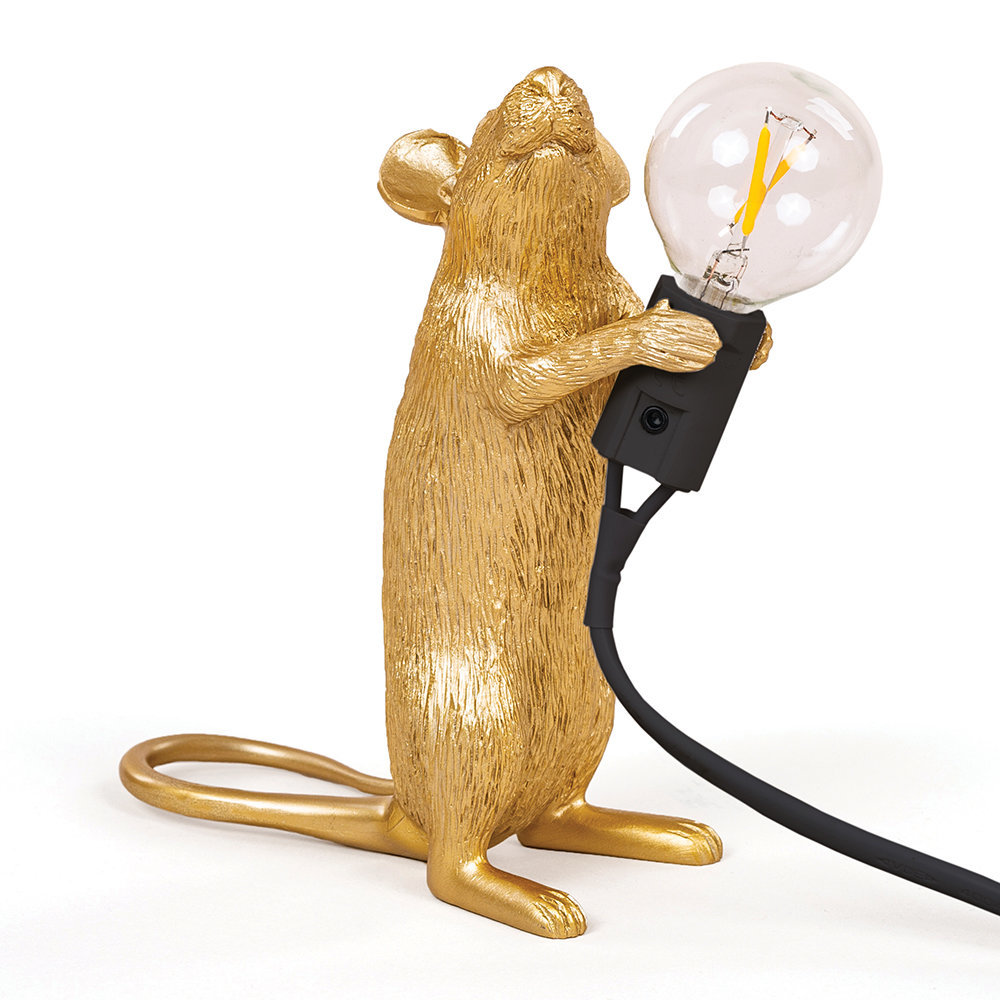 Seletti - Mouse Lamp - Standing - Gold