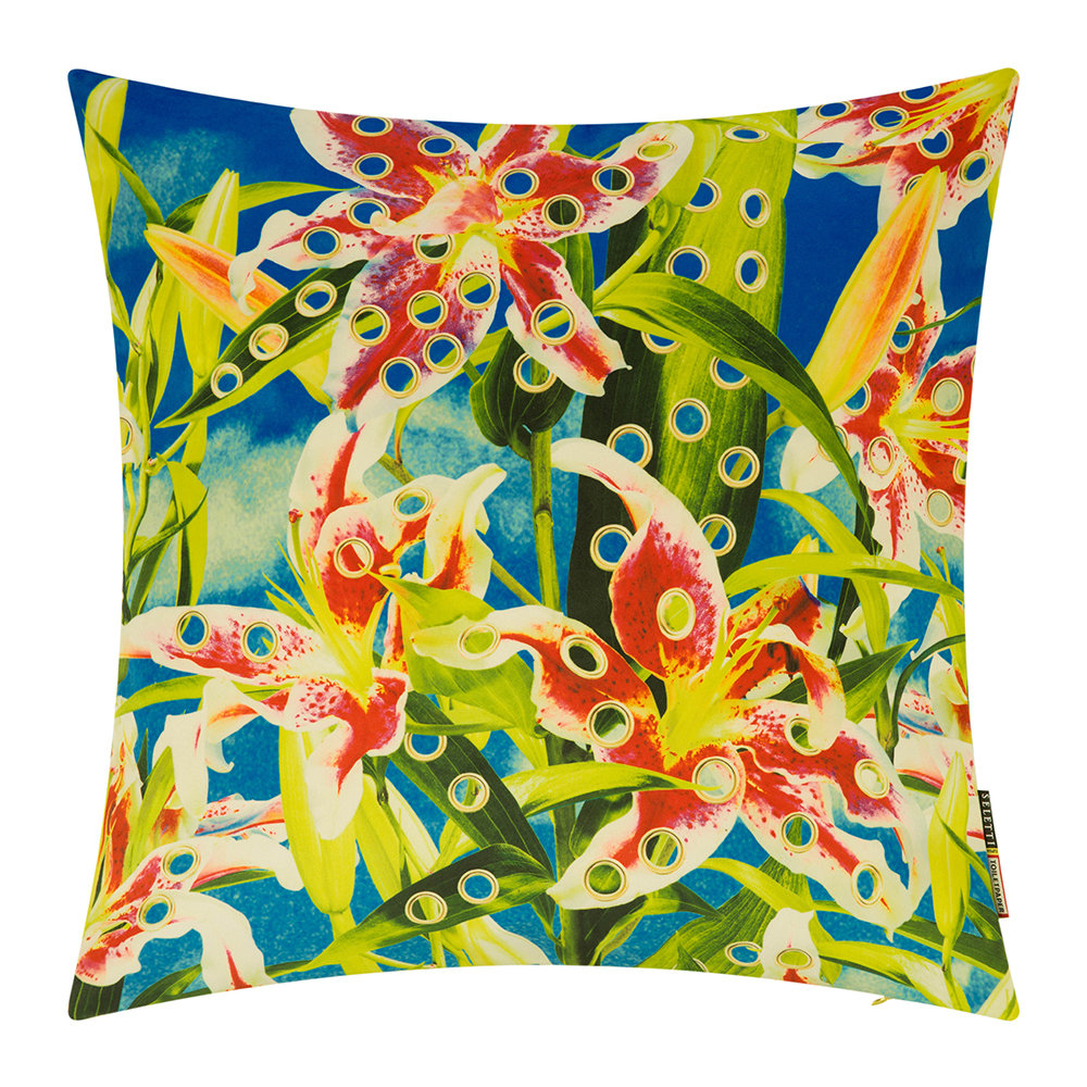 Seletti wears Toiletpaper - Toiletpaper Cushion Cover - 50x50cm - Flowers with Holes