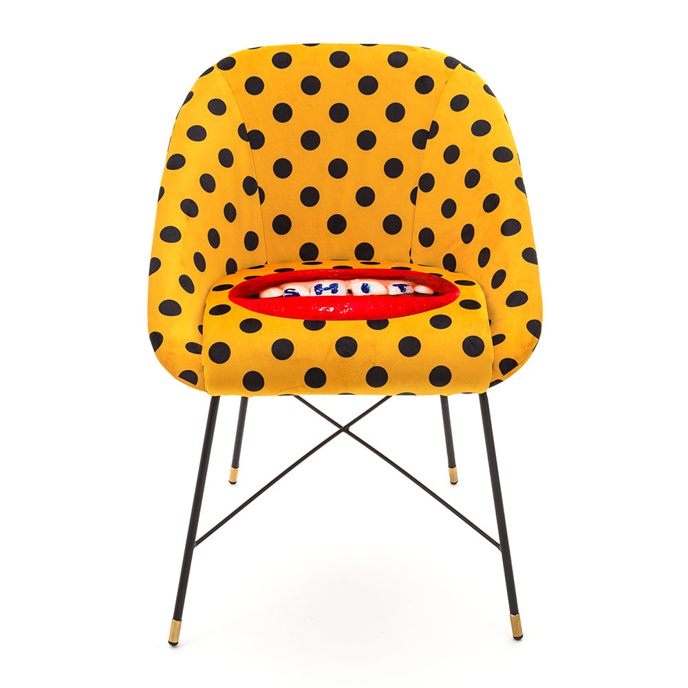 Seletti wears Toiletpaper - Upholstered Padded Chair - Sh*t