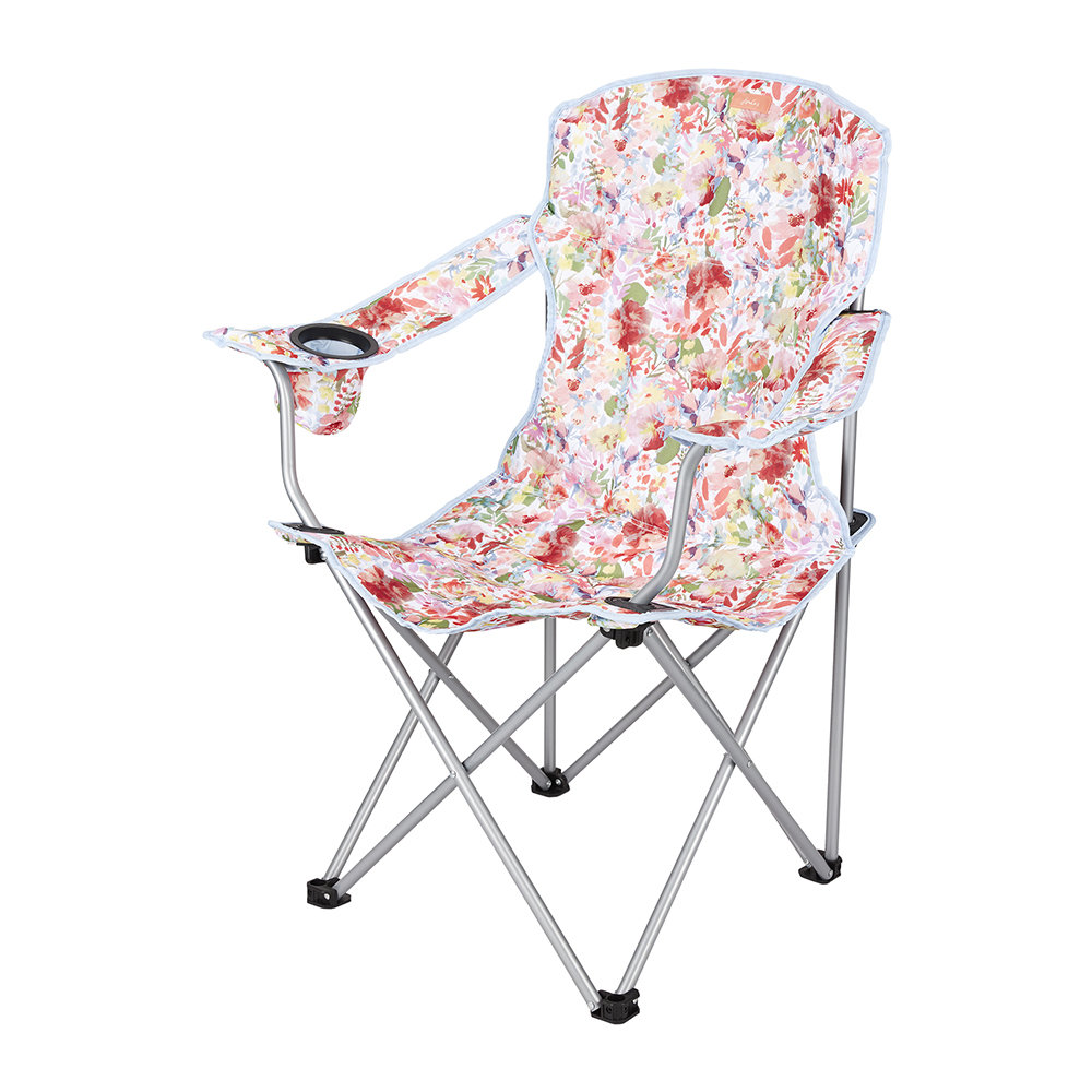 Joules - Foldable Picnic Chair - White Floral