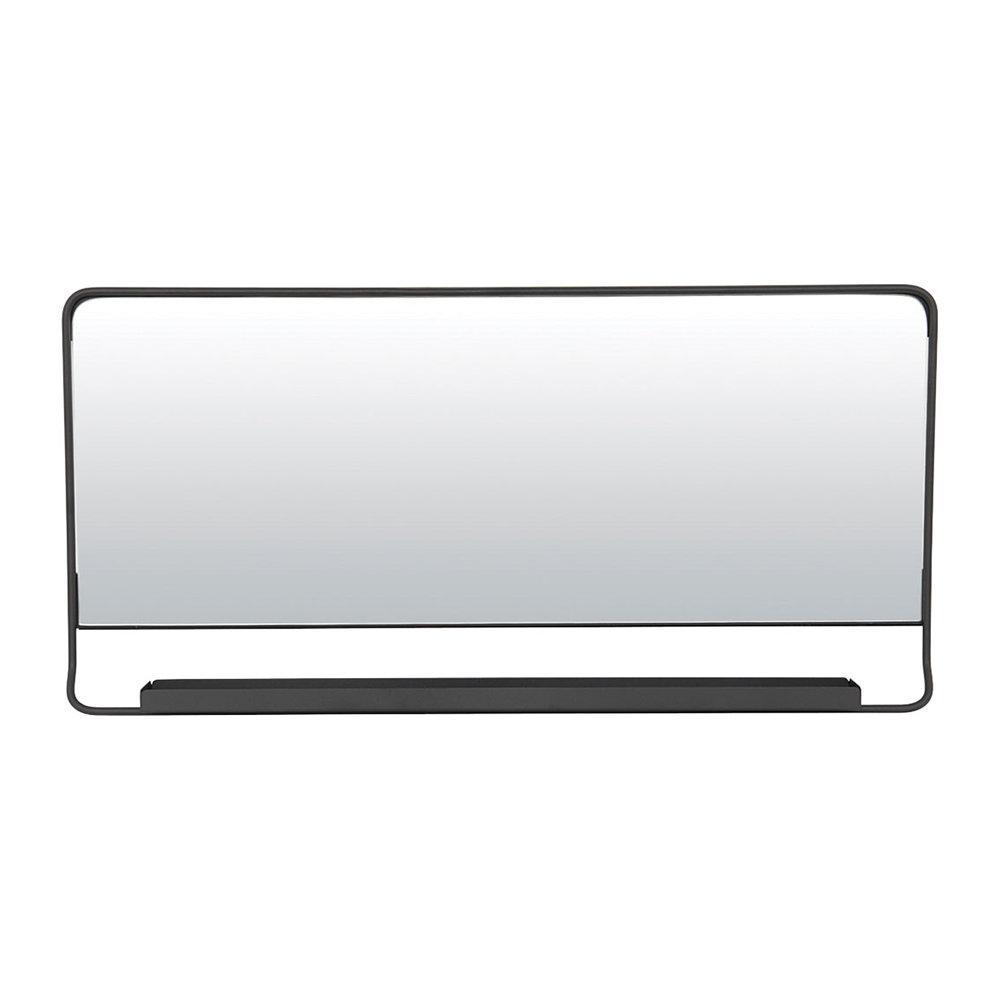 House Doctor - Chic Mirror with Shelf - Black - 80x40cm