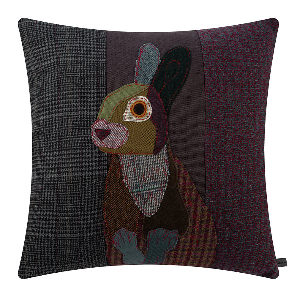 Carola van Dyke - Dark Rabbit Cushion - 59x50cm