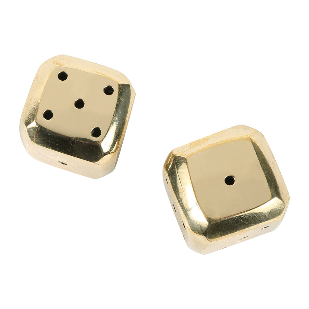 Sir/Madam - Beveled Brass Dice