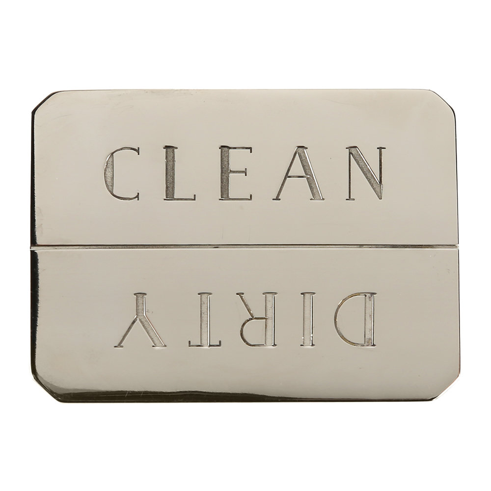 Sir/Madam - Clean/Dirty Dishwasher Magnet - Nickel Plated Brass