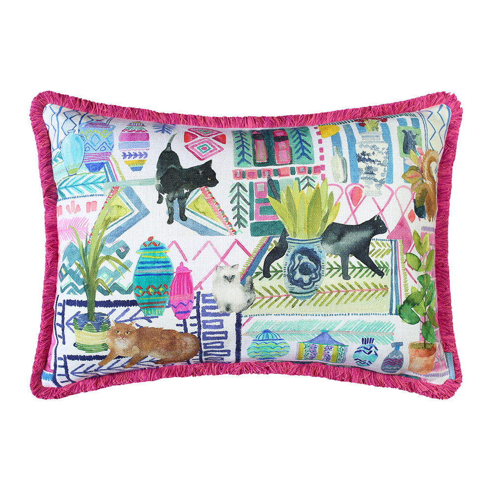 Bluebellgray - Cats Reversible Cushion - 61x45cm