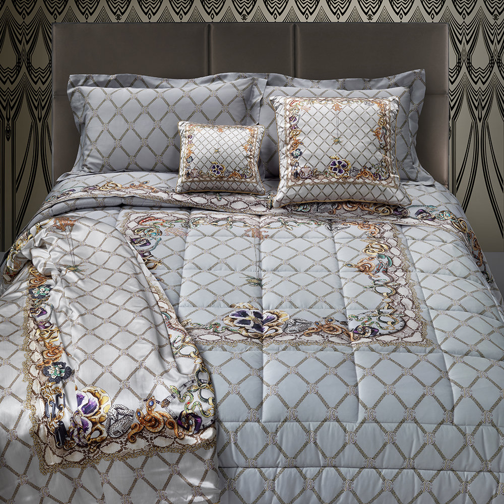 New Spider Bed Set Gray Super King