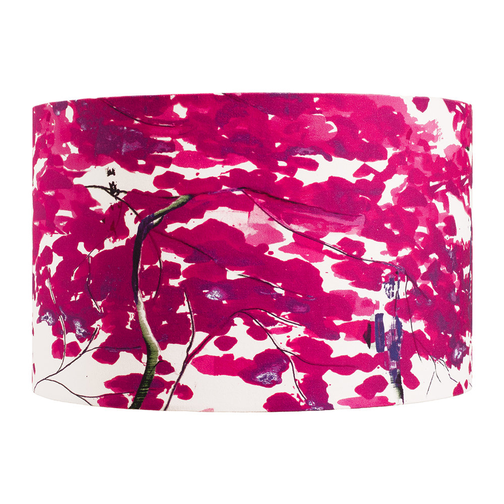 Anna Jacobs - Chinese Tree Lamp Shade - Pink/Violet - Large