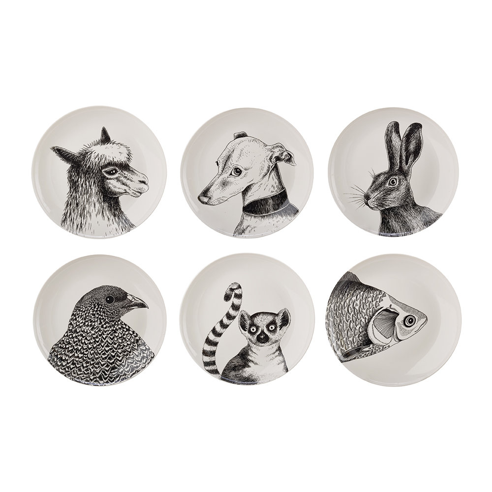 Pols Potten - Animals Salad Plates - Set of 6