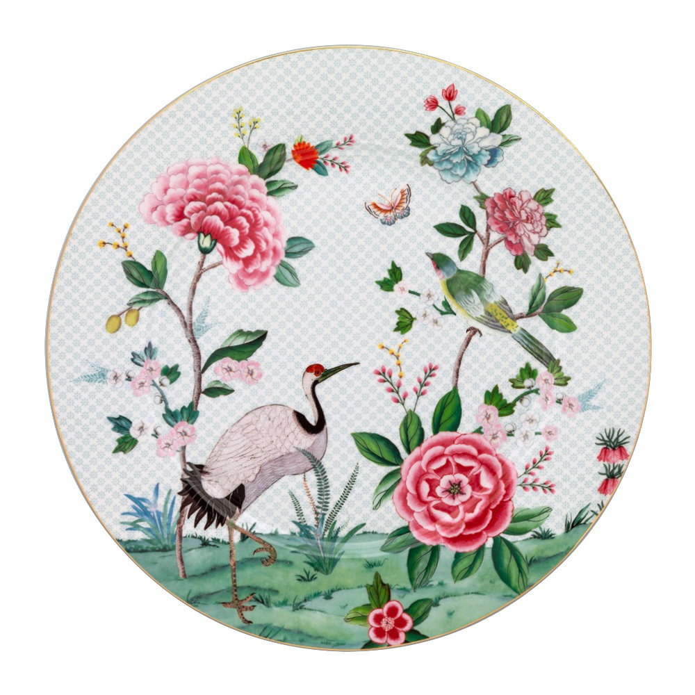 Pip Studio - Blushing Birds Serving Plate - White