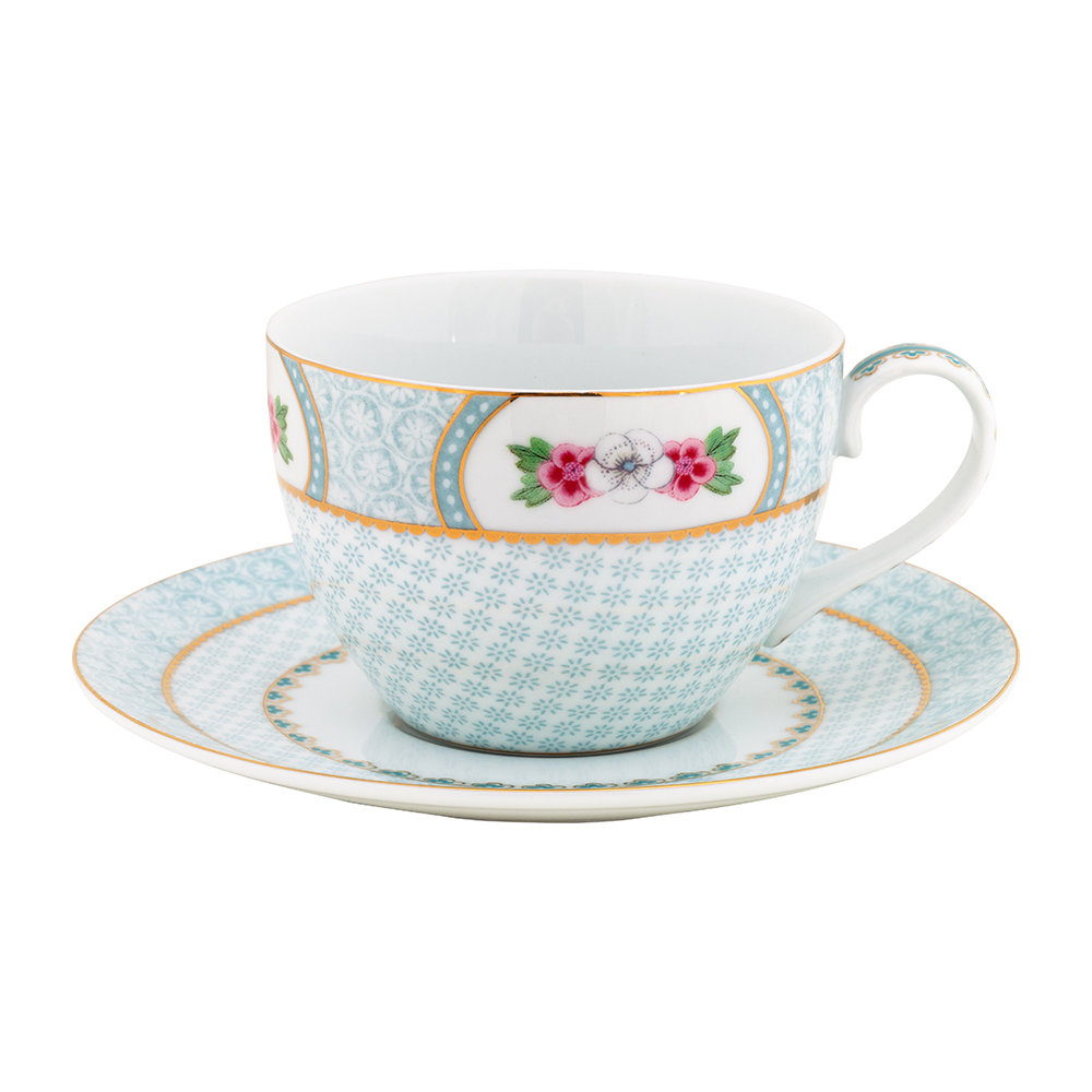 Pip Studio - Blushing Birds Cappuccino Cup  Saucer - White