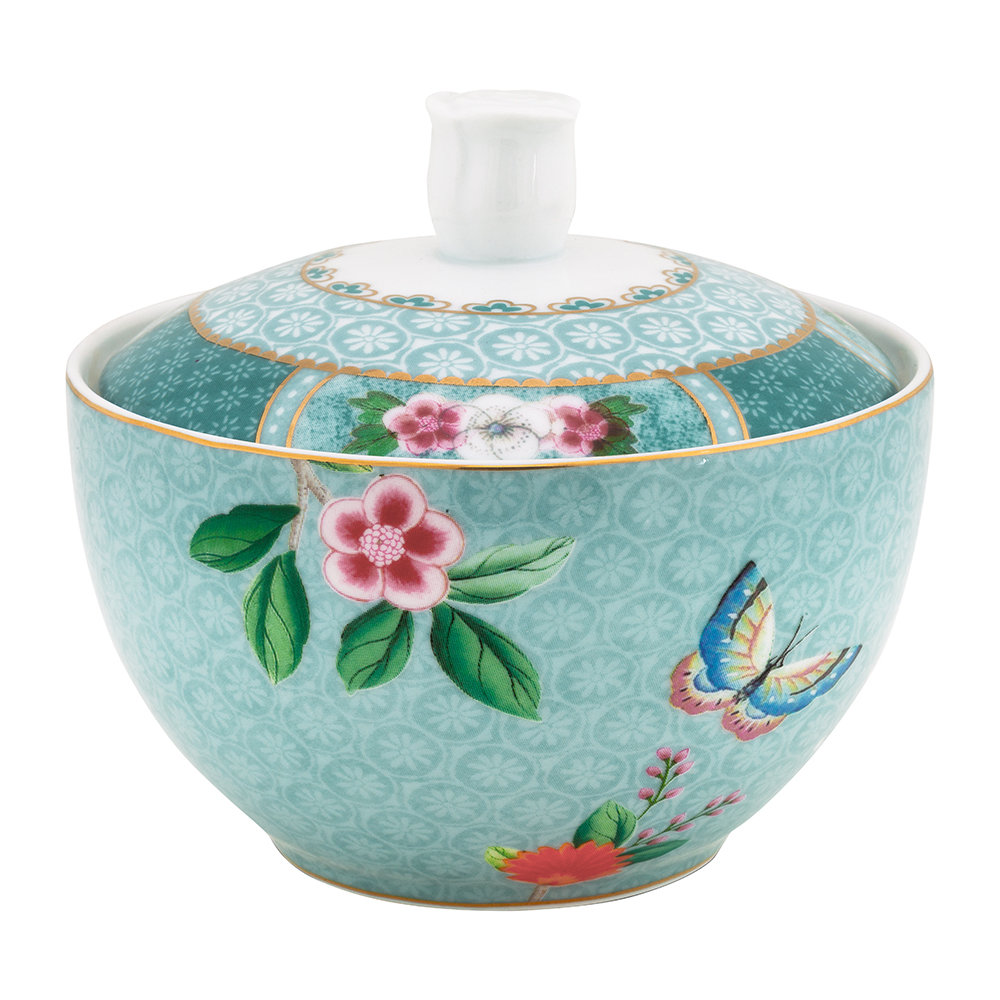 Pip Studio - Blushing Birds Sugar Bowl - Blue
