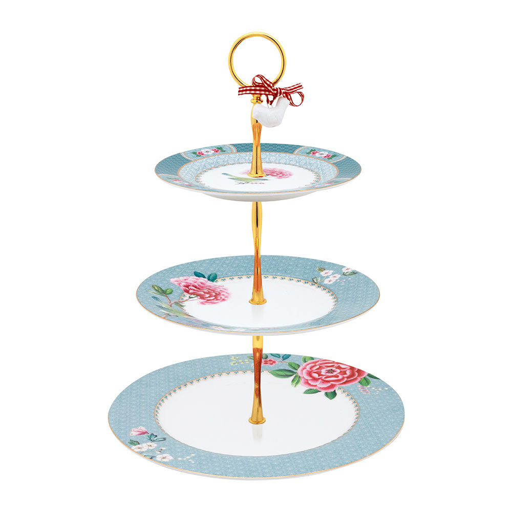 Pip Studio - Blushing Birds 3 Tier Cake Stand - Blue