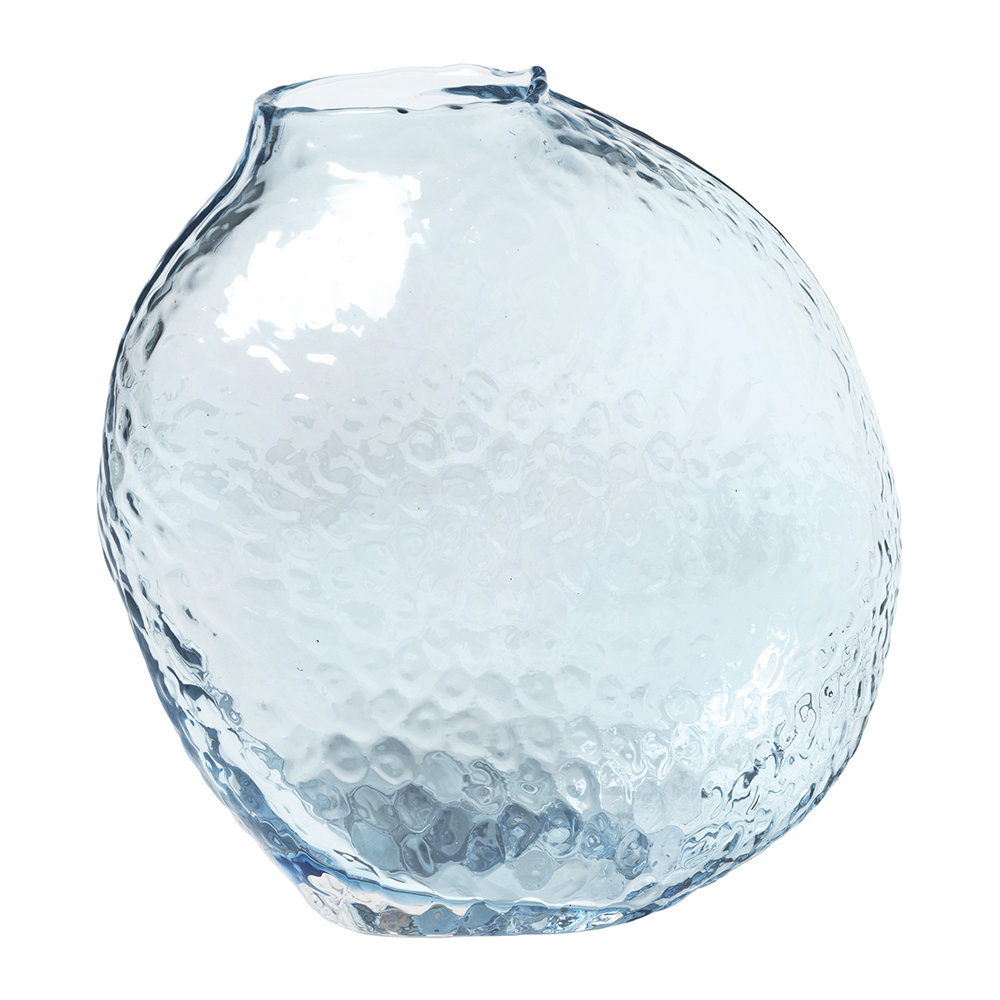 Broste Copenhagen - 'Anneke' Glass Vase - Ashley Blue