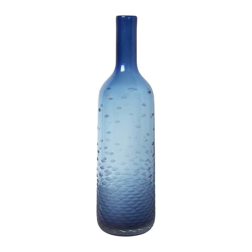 Broste Copenhagen - 'Atle' Mouthblown Glass Vase - Crown Blue