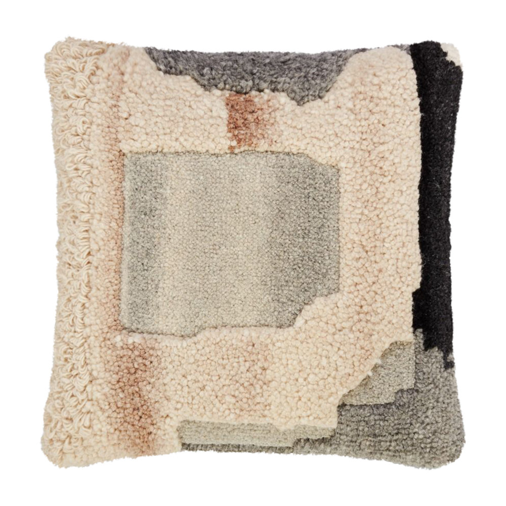 Tom Dixon - Abstract Hand Tufted Cushion - 45x45cm - Natural