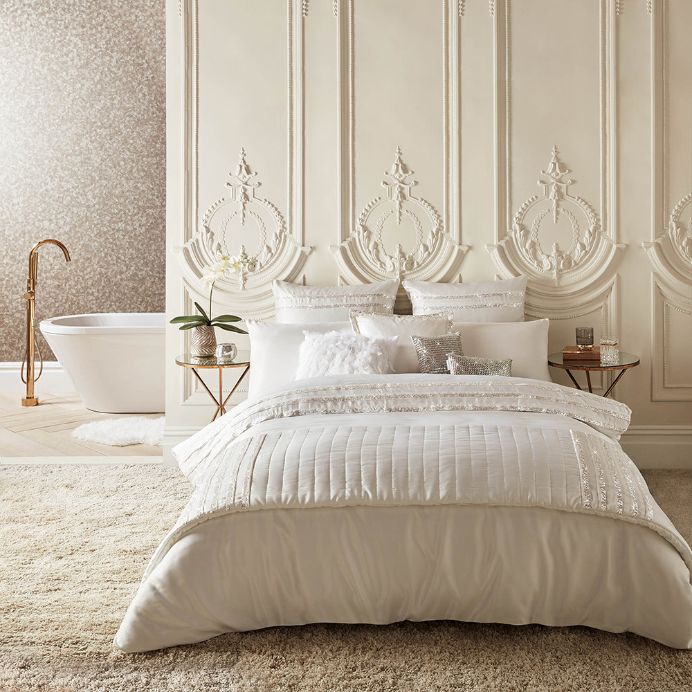 Kylie Minogue at Home - Bardot Duvet Cover - Oyster - Super King