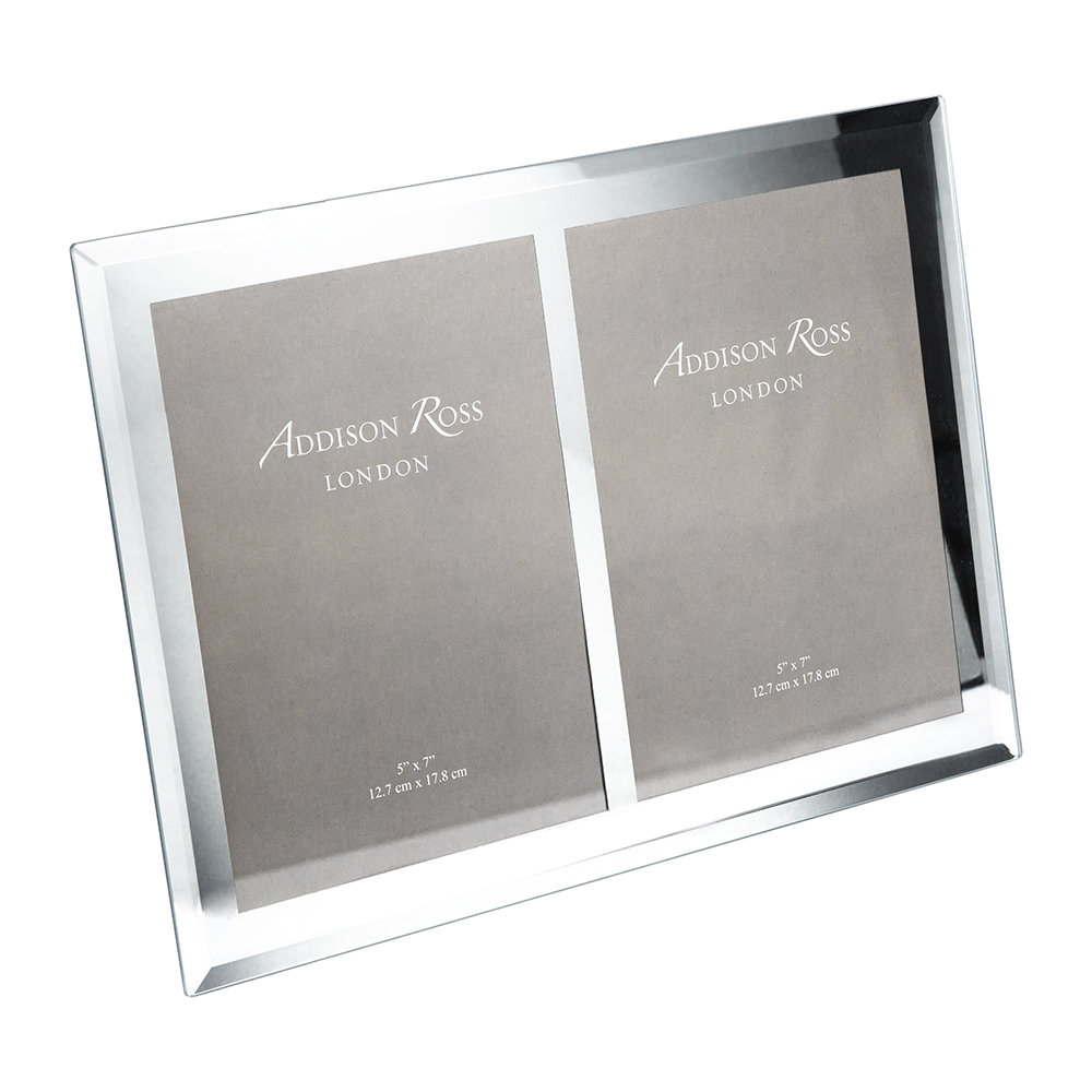 """Addison Ross - Bevelled Edge Double Glass Photo Frame - 5x7"""""""