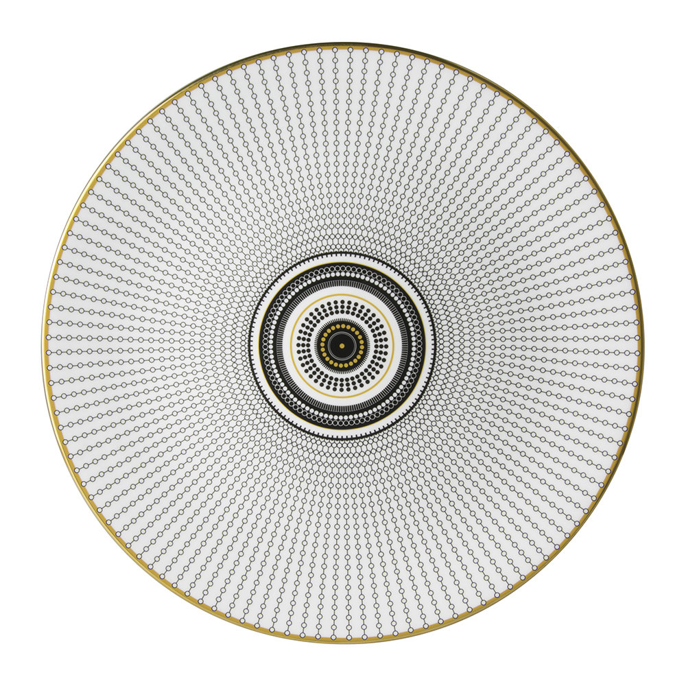 Royal Crown Derby - Oscillate Charger Plate - Onyx