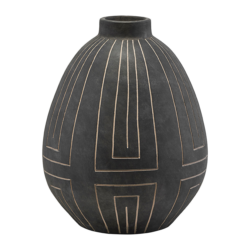 House Doctor - Aljeco Vase - Grey/Black