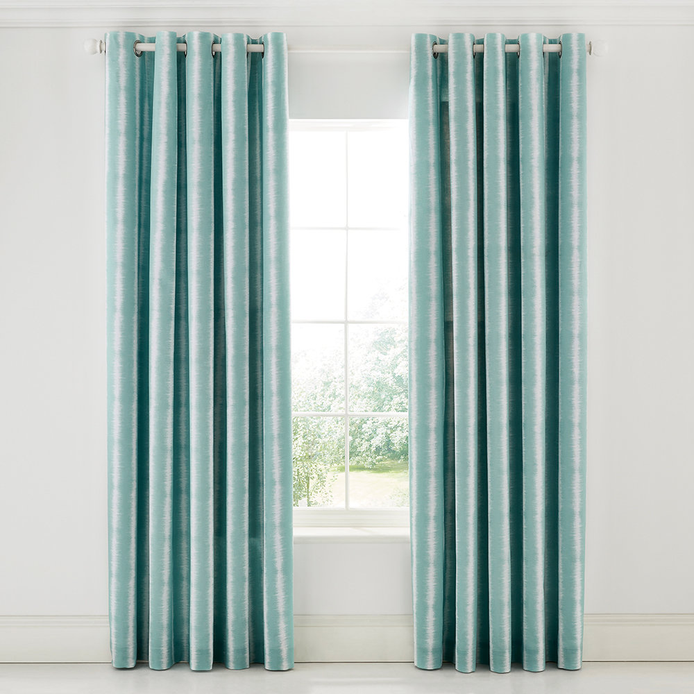 Scion - Akira Lined Curtains - Teal - 168x229cm