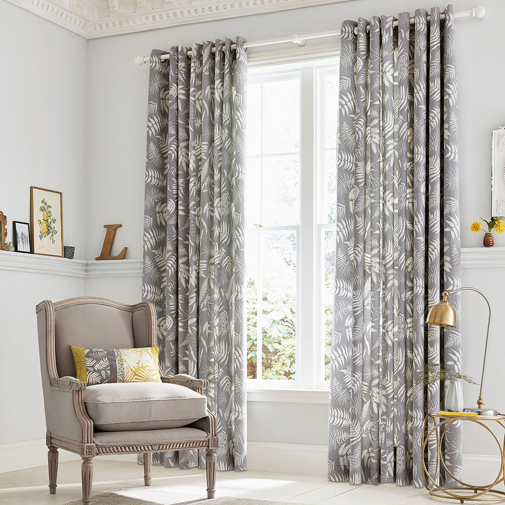 Clarissa Hulse - Espinillo Lined Curtains - Grey - 168x138cm