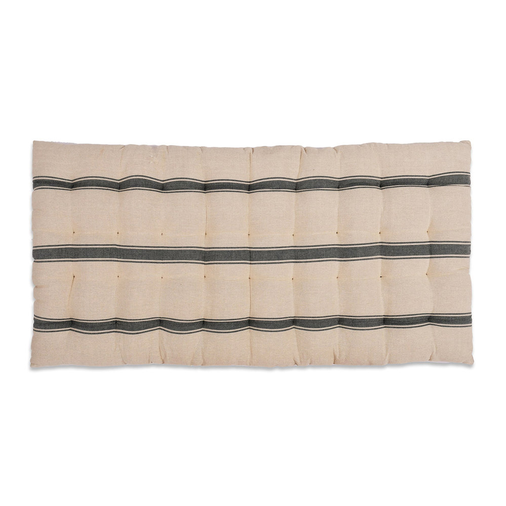 Garden Trading - Stripe Hampstead Bench Seat Pad - Charcoal