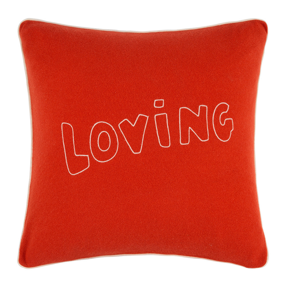 Bella Freud - Loving Cushion - Red