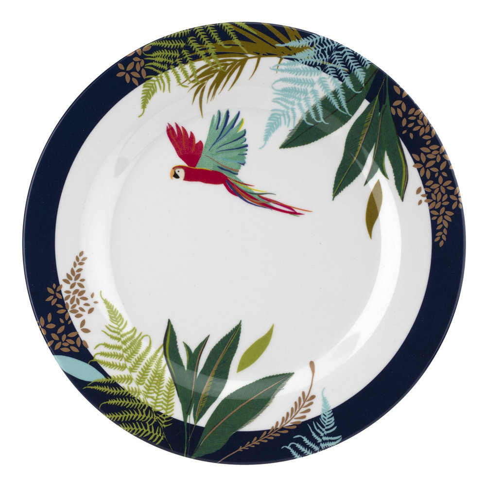 Sara Miller - Parrot Collection Melamine Plate - Set of 4 - Side Plate - 20cm