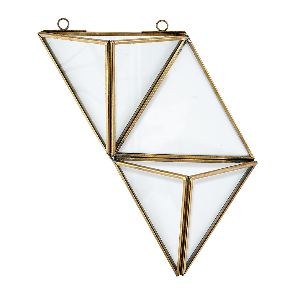 Nkuku - Karana Wall Hung Planter - Antique Brass - Small