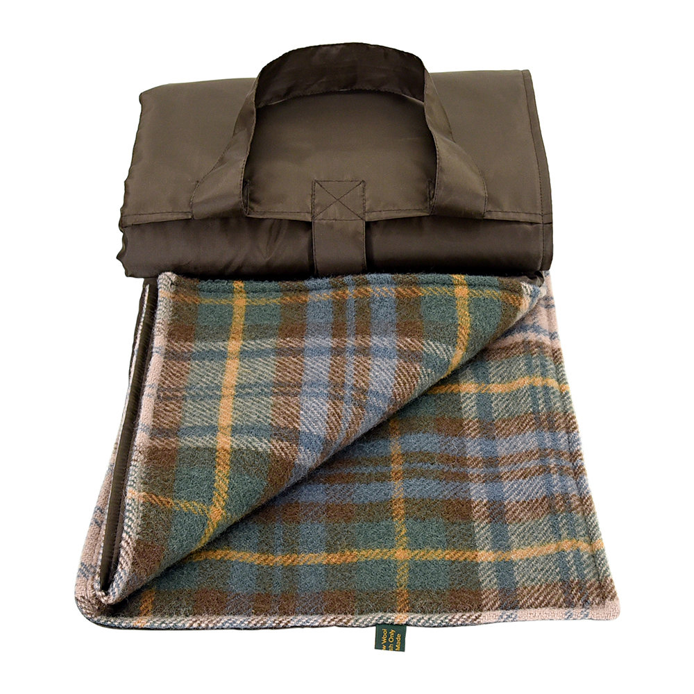 Tweedmill - Eventer Pure New Wool Picnic Blanket - Antique Dress Gordon/Brown