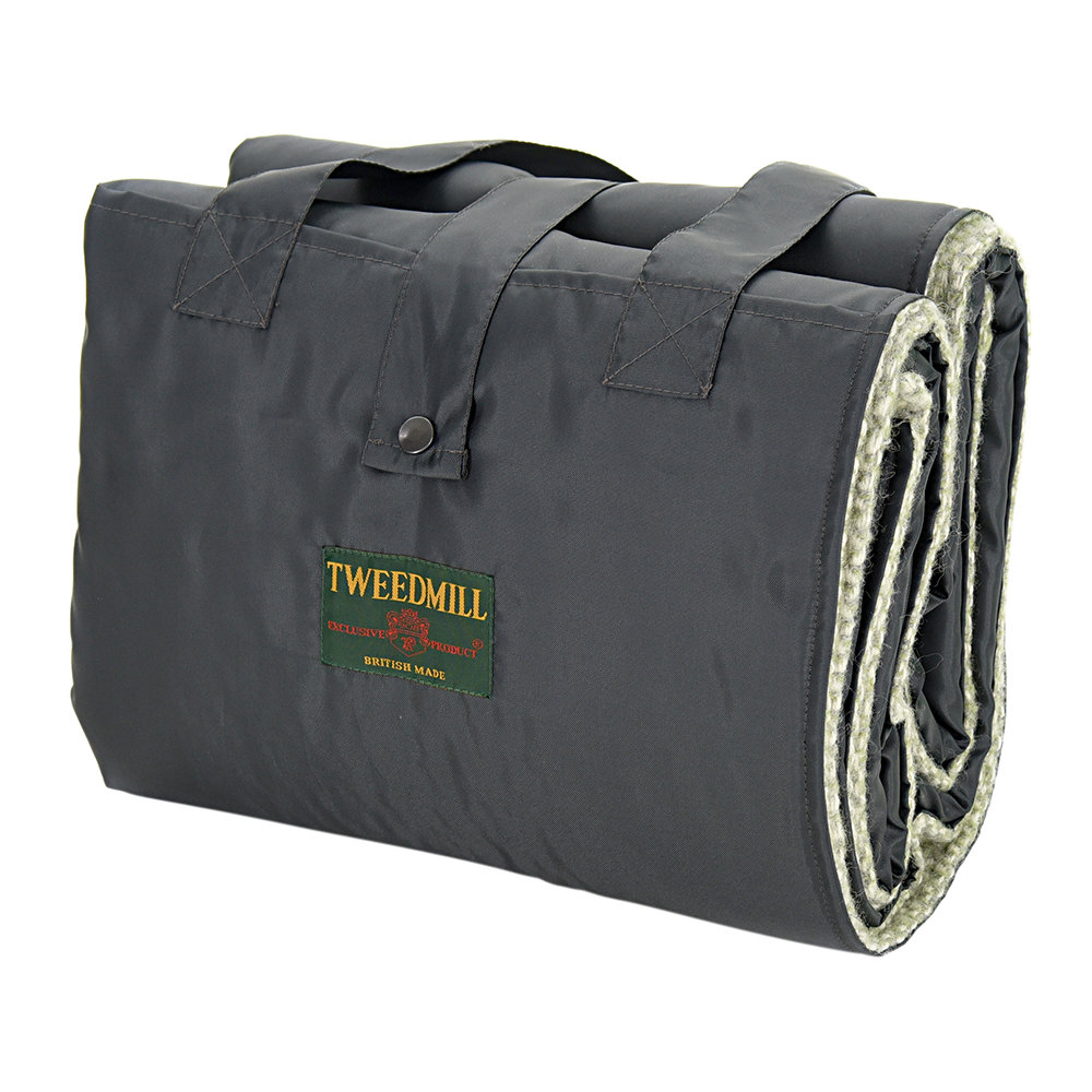 Tweedmill - Eventer Pure New Wool Picnic Blanket - Illusion Green/Gray
