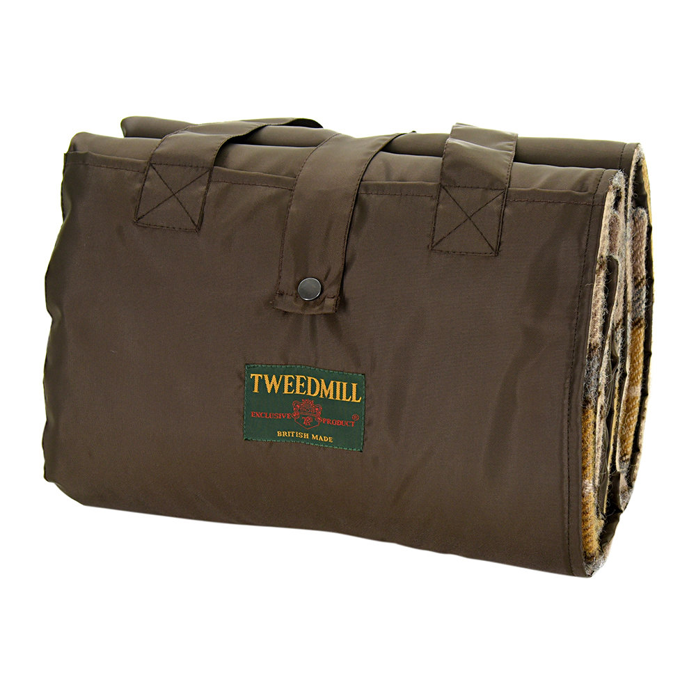 Tweedmill - Eventer Pure New Wool Picnic Blanket - Natural Buchanan/Chocolate