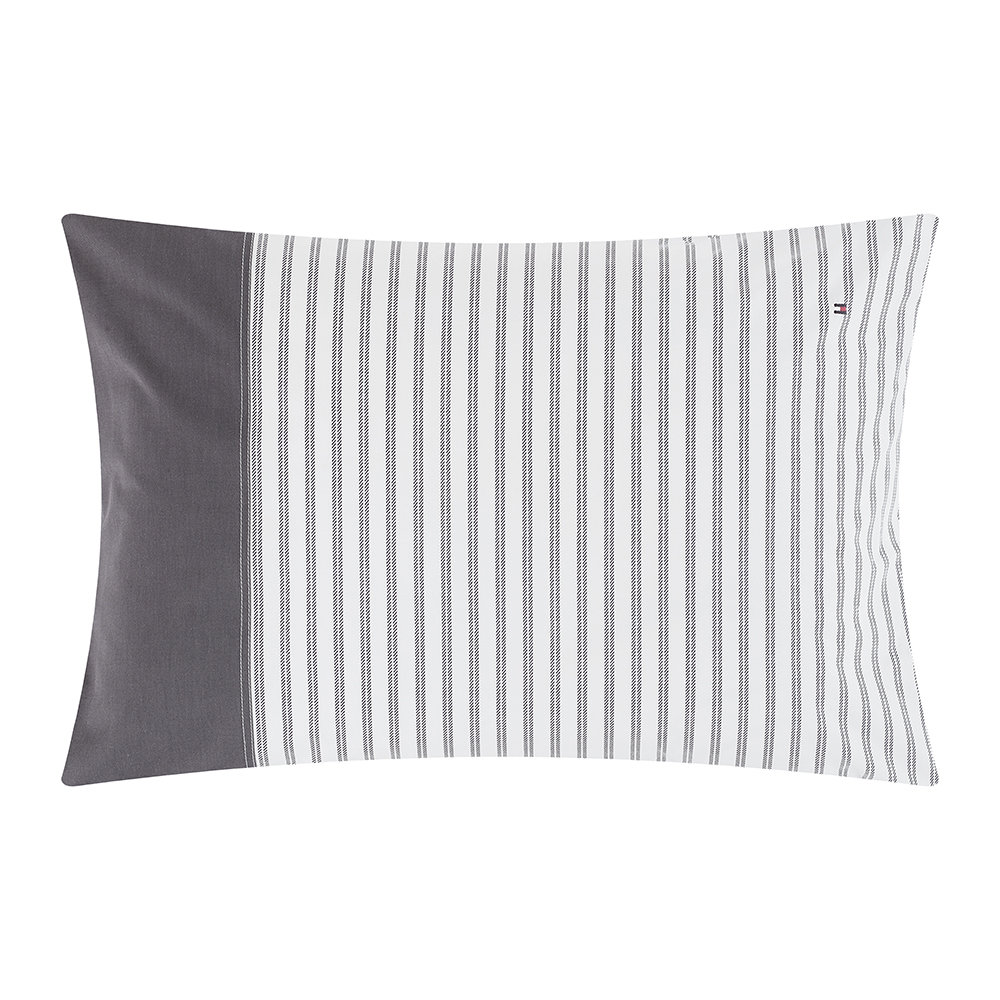 Tommy Hilfiger - Cotton Percale Classic Reinvented Pillowcase - Dark - 50x75cm