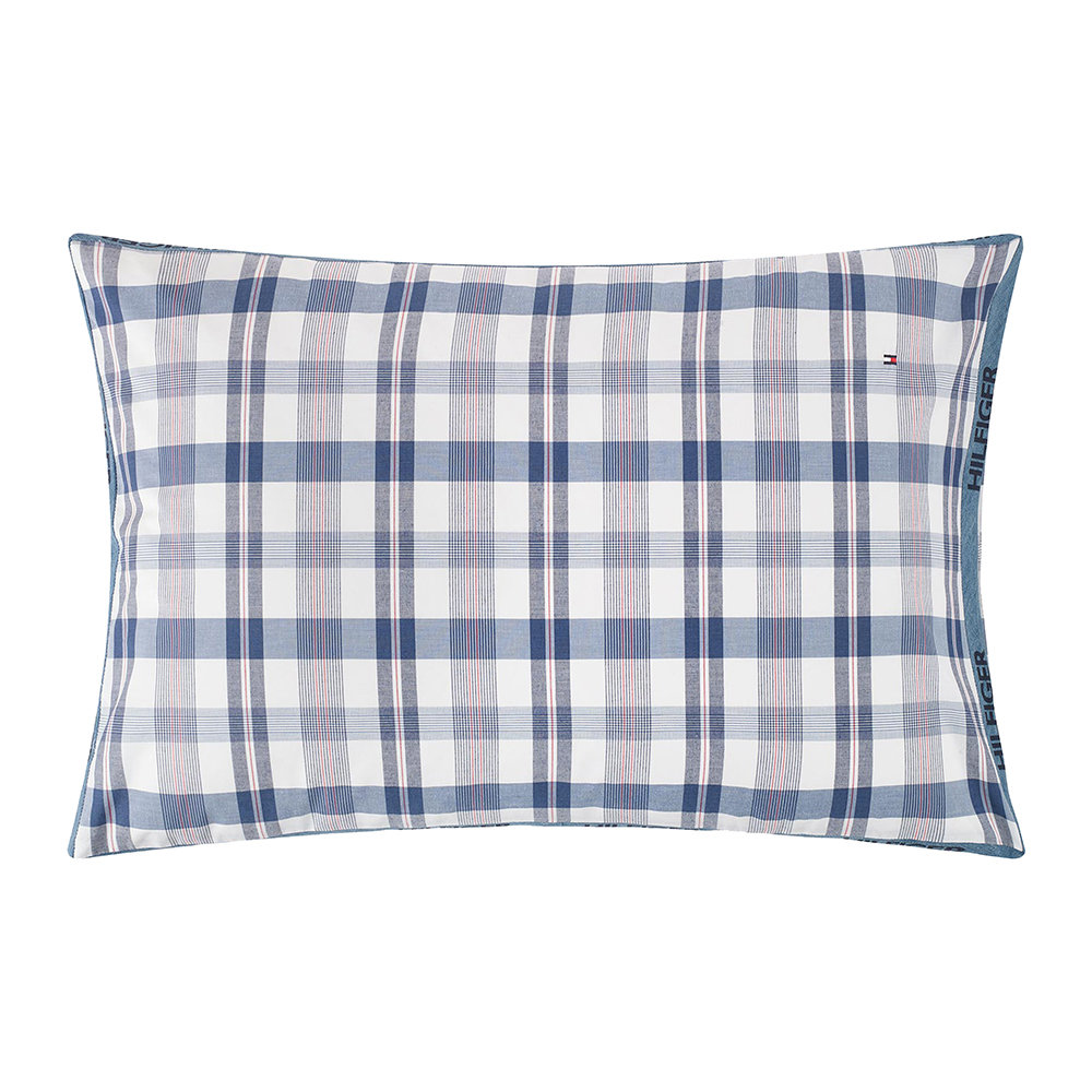 Tommy Hilfiger - Check Hilfiger Trim Pillowcase - White - 50x75cm