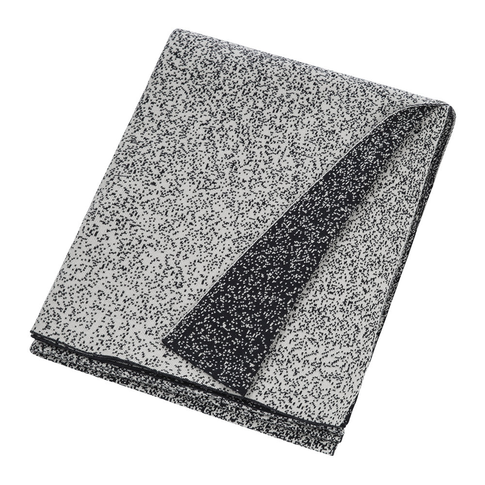 A by AMARA - Speckled Knitted Throw - Black/White