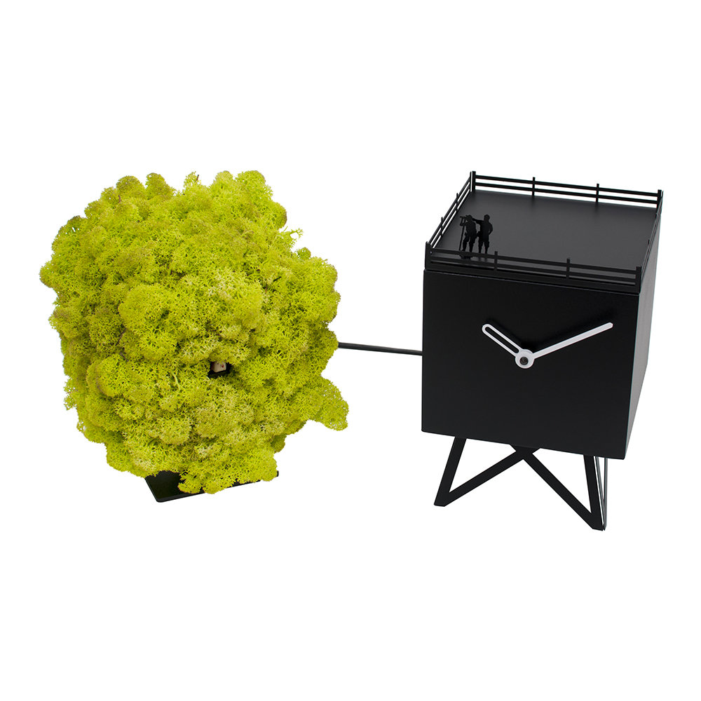 Progetti - Bird Watching Cuckoo Clock - Black/Moss
