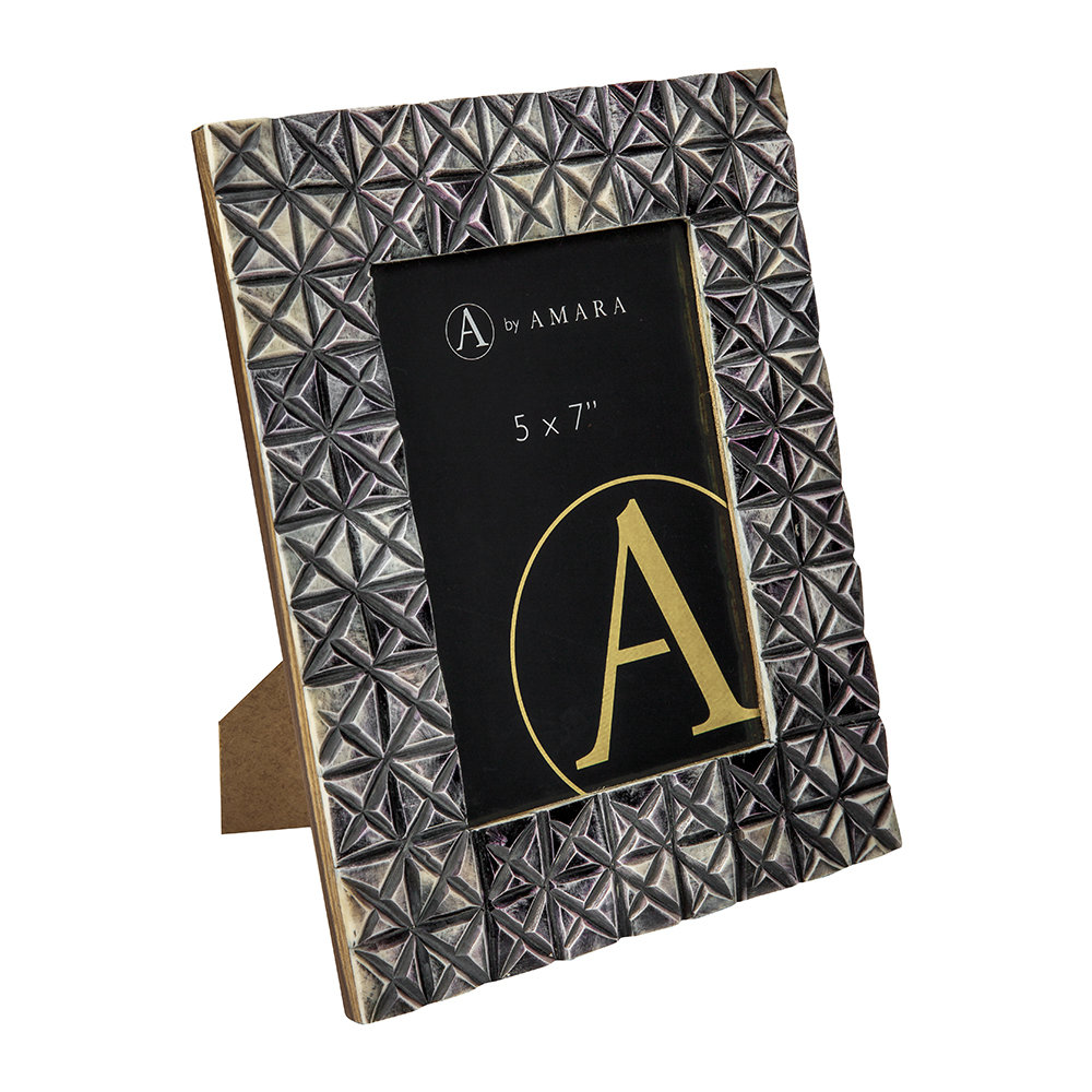 A by AMARA - Blue Tile Photo Frame - 5x7""