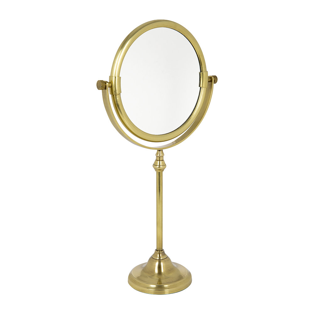 Image of A by AMARA - Freestanding Mirror - Antique Gold
